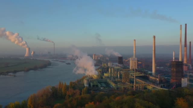 steel mill by the rhine river - industrial district stock videos & royalty-free footage