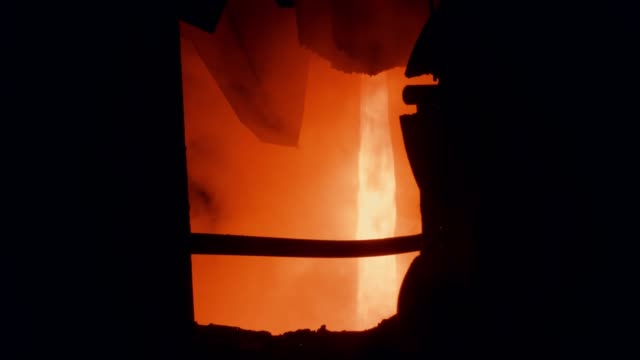 steel mill factory - molten metal pour - steel mill stock videos & royalty-free footage
