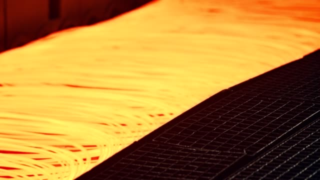 steel mill - steel wire - filo metallico video stock e b–roll
