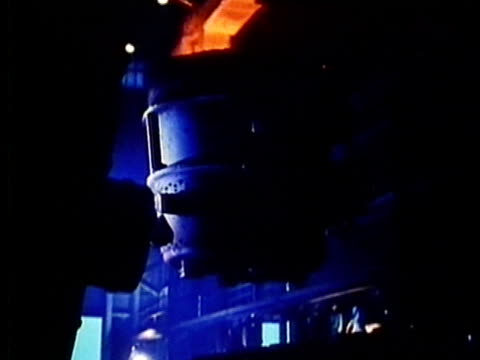 montage, steel plant, 1960's, detroit, michigan, usa - 1960 1969 stock-videos und b-roll-filmmaterial