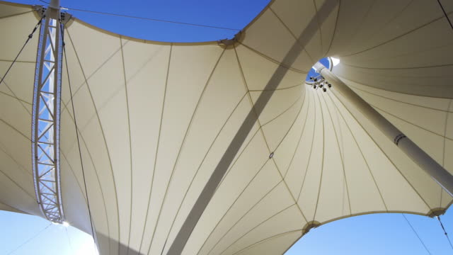 steel poles support a sculptural canopy at skysong innovation center in scottsdale, arizona. - fibreglass stock videos and b-roll footage