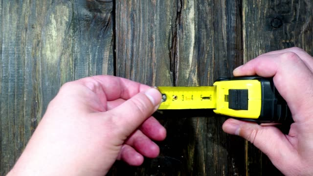 steel tape measurer - metric system stock videos and b-roll footage