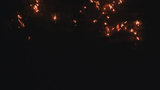 Staal wol branden