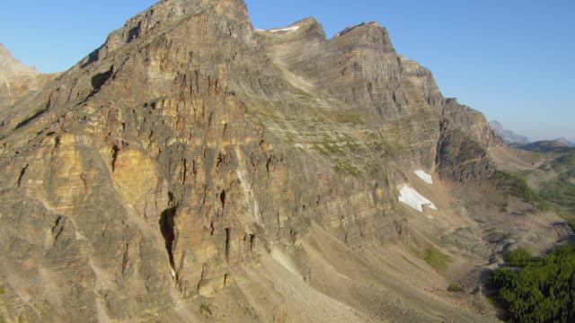 Steep Arid Peaks In Canadian Rockies