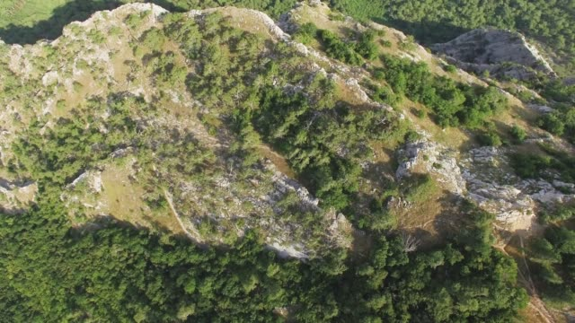 aerial: steep cliffs of canyon, top view - multicopter stock videos & royalty-free footage