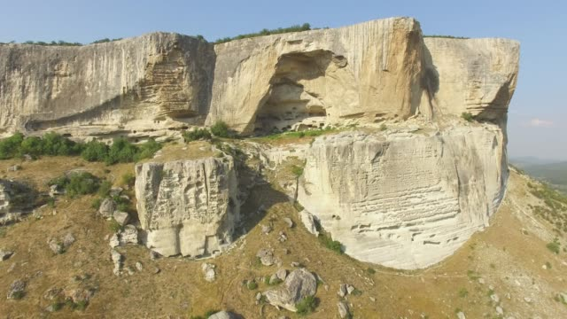 AERIAL: Steep cliffs of canyons