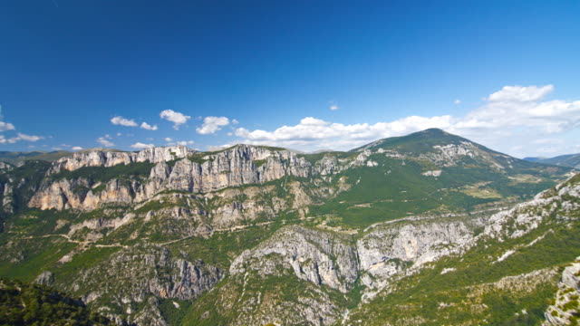 steep mountains of gorges du verdon, france - rock face stock videos and b-roll footage