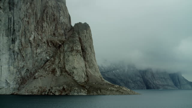 steep promontory and arctic fjord - 50 seconds or greater stock videos & royalty-free footage