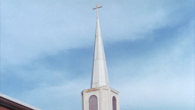 ms steeple of church / unspecified - steeple stock videos & royalty-free footage