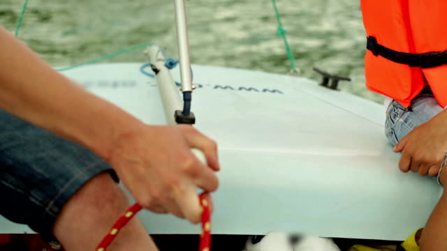 steering a sailboat - yachting stock videos & royalty-free footage