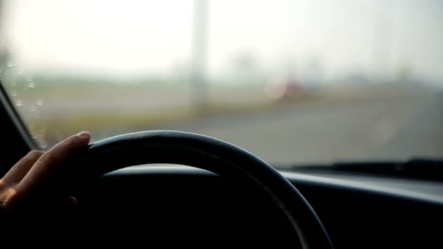 steering wheel in the car, - land vehicle stock videos & royalty-free footage