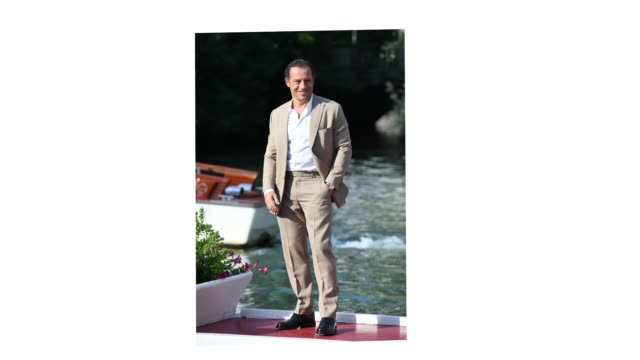 venice italy september 10 stefano accorsi is seen arriving at the excelsior during the 77th venice film festival on september 10 2020 in venice italy - gif stock videos & royalty-free footage