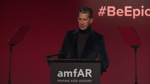 SPEECH Stefano Tonchi at 20th Annual amfAR Gala New York at Cipriani Wall Street on February 07 2018 in New York City
