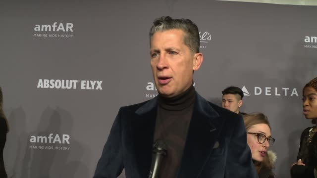 INTERVIEW Stefano Tonchi talks about being honored tonight at 20th Annual amfAR Gala New York at Cipriani Wall Street on February 07 2018 in New York...