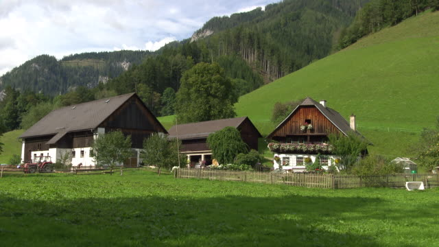 steiermark - country houses in thörl - austrian culture stock videos & royalty-free footage