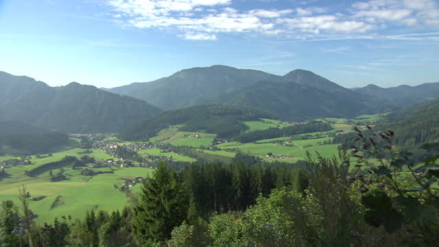 Steiermark - view of the mountain range from Burgeralm