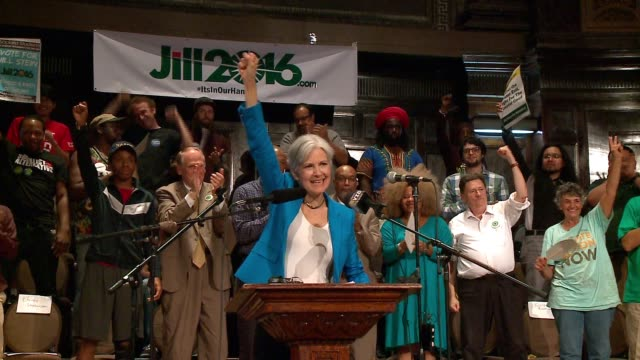 wgn stein and her vice presidential running mate ajamu baraka campaigned on chicago's west side on september 8 2016 - jill stein stock videos and b-roll footage