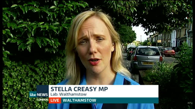 MP Stella Creasy targetted with offensive tweets ENGLAND London GIR Walthamstow LIVE 2WAY interview from Walthamstow SOT