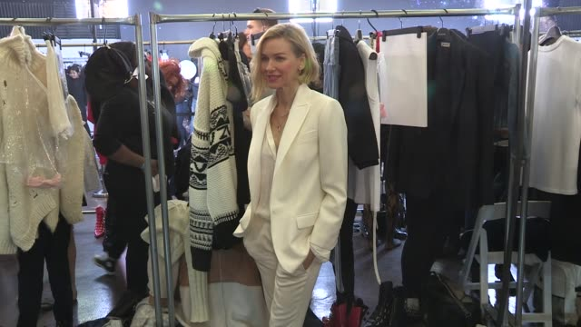 Stella Maxwell and Naomi Watts backstage at the Zadig et Voltaire Ready to Wear Fall Winter 2018 Fashion Show in New York City New York City USA on...
