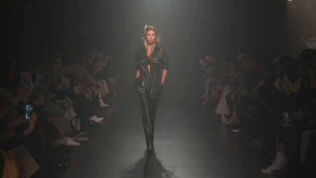 Stella Maxwell Hailey Baldwin and more on the runway for the Zadig et Voltaire Ready to Wear Fall Winter 2018 Fashion Show in New York City New York...