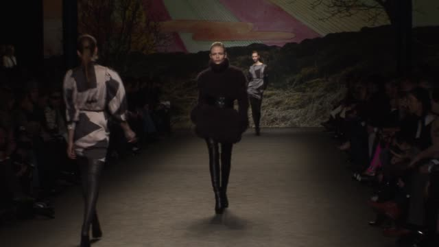 paris fashion week a/w 2009 at paris - stella mccartney marchio di design video stock e b–roll
