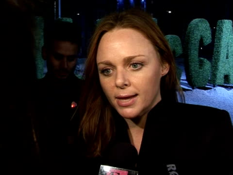 stella mccartney discusses her reasons for collaborating with handm her collection and design processes at the stella mccartney for handm launch... - stella mccartney marchio di design video stock e b–roll