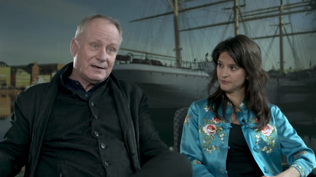 INTERVIEW Stellan Skarsgard Melinda Kinnaman on 'River' not normally want to place police officer at 68th Berlin Film Festival Gordon Paddy...