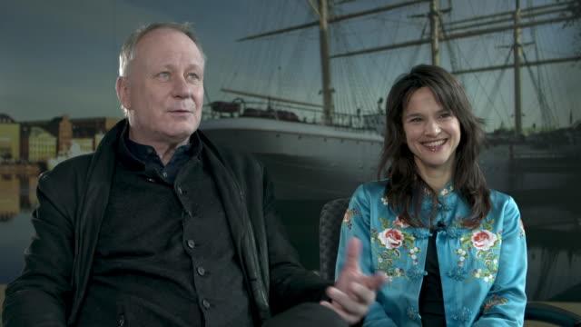INTERVIEW Stellan Skarsgard Melinda Kinnaman on scandinavian detective stories at 68th Berlin Film Festival Gordon Paddy Interviews on February 17...