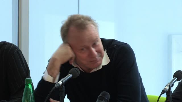 Stellan Skarsgard on his character dialect challenges at The Railway Man Press Conference on April 27 2012 in Edinburgh Scotland