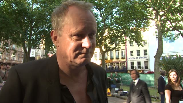 stellan skarsgard on making the film at the mamma mia premiere at london - mamma mia stock videos and b-roll footage