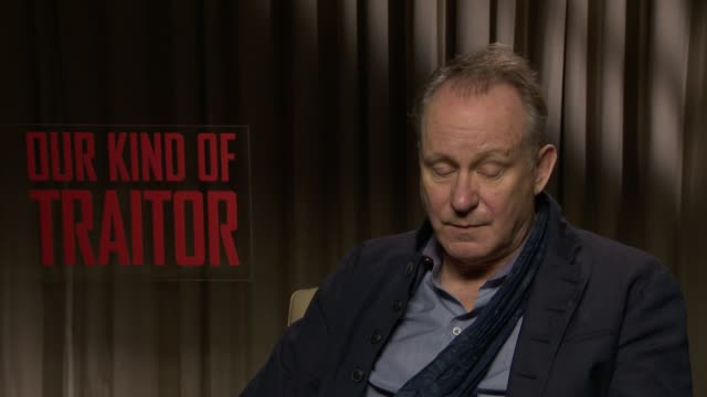INTERVIEW Stellan Skarsgard on the Panama Papers and the similarities to the film at 'Our Kind of Traitor' Interviews on April 06 2016 in London...