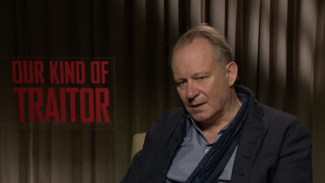 INTERVIEW Stellan Skarsgard on working with Ewan McGregor at 'Our Kind of Traitor' Interviews on April 06 2016 in London England