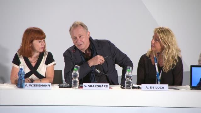INTERVIEW Stellan Skarsgard on working with Lars von Trier at 'Nymphomaniac Volume 1 Director's Cut' 71st Venice International Film Festival on...