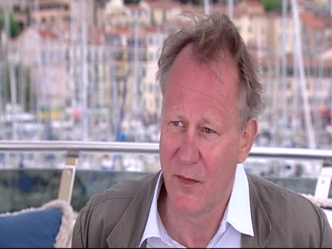 Stellan Skarsgard on working with Lars von Trier at the Moomins Interviews Cannes 2010 Film Festival at Cannes