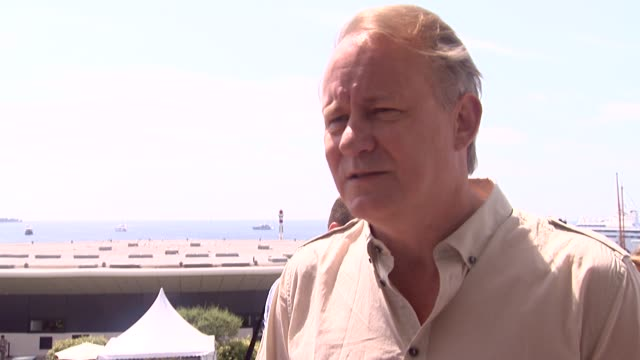Stellan Skarsgard on working with Lars Von Trier working on set at the Melancholia Interviews 64th Cannes Film Festival at Cannes