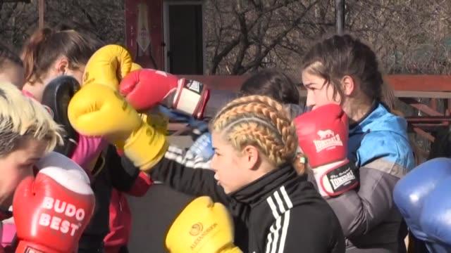 steluta duta was a teenaged orphan living on the streets when one cold january day in 2002 she stepped through the door of a boxing gym in the town... - romania stock videos & royalty-free footage