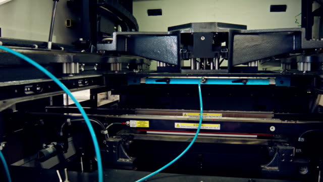 stencil screen printer smt line - stencil stock videos & royalty-free footage