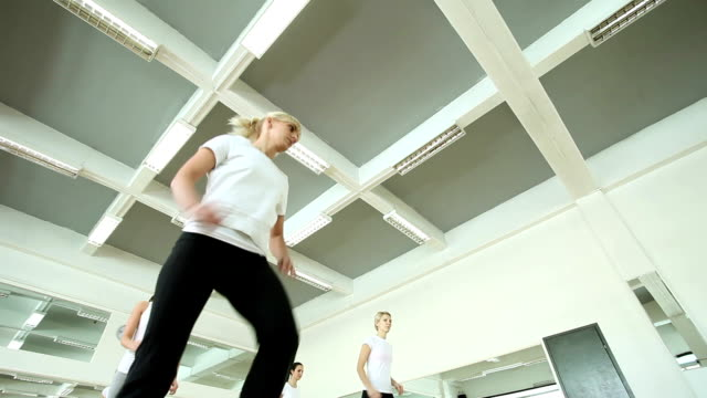 step class - step aerobics stock videos and b-roll footage