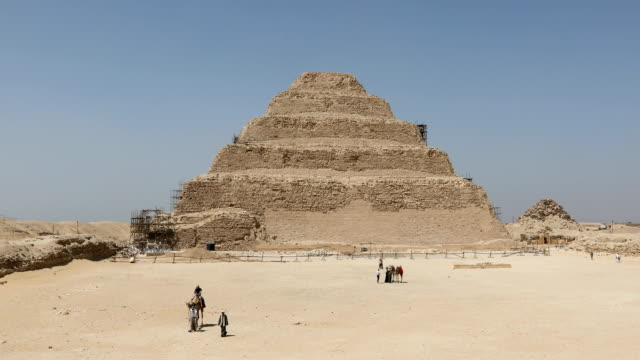 step pyramid of djoser - egypt stock videos & royalty-free footage