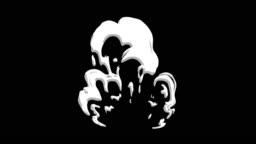 3 Step Smoke Bomb 2d Cartoon FX 4K