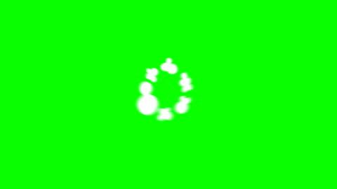 9 steg rök stiger över 2d cartoon fx 4k animation, kroma nyckel (skurar och puff) - serier bildbanksvideor och videomaterial från bakom kulisserna