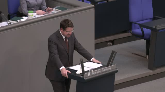 stephan stracke of the bavarian christian democrats speaks during final debates and a vote on a series of new measures to rein in the coronavirus... - bridle stock videos & royalty-free footage