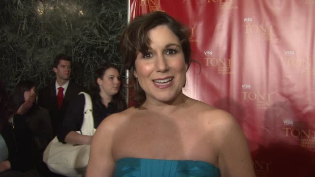 stockvideo's en b-roll-footage met stephanie block on the number she's performing from 9 to 5. she talks about collaborating with writer dolly parton, how smart and talented and down... - number 9