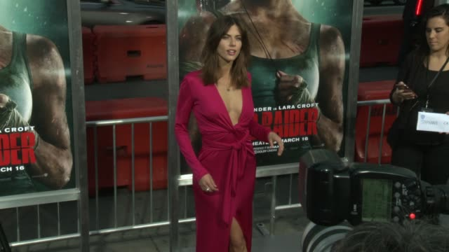 Stephanie Cayo at the 'Tomb Raider' Premiere at TCL Chinese Theatre on March 12 2018 in Hollywood California