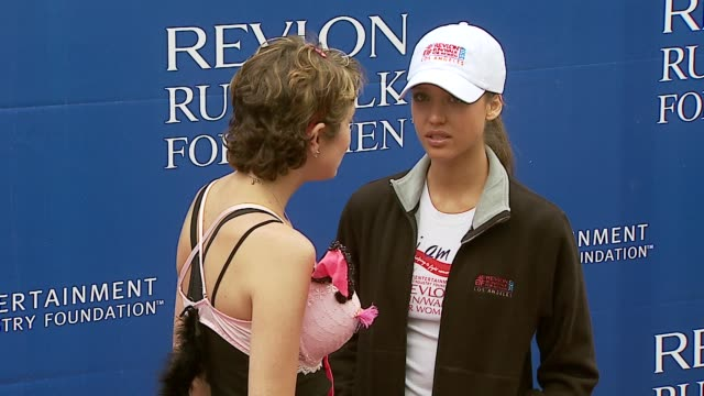 stephanie larue and jessica alba at the revlon run/walk for women celebration of 14 years in los angeles at the los angeles memorial coliseum in los... - revlon stock videos & royalty-free footage