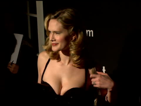 stockvideo's en b-roll-footage met stephanie march at the entertainment weekly's viewing party for 2006 academy awards at elaine's in new york, new york on march 5, 2006. - entertainment weekly