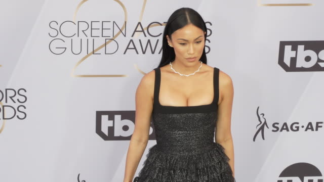 stephanie shepherd at the 25th annual screen actors guild awards at the shrine auditorium on january 27 2019 in los angeles california - screen actors guild awards stock videos & royalty-free footage