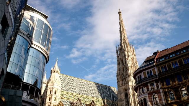 Stephansplatz mit Stephansdom-Zeitraffer