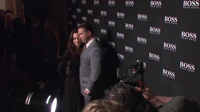 stephen baldwin and guest at the hugo boss hosts boss black fashion show at cunard building in new york, new york on october 17, 2007. - stephen baldwin stock-videos und b-roll-filmmaterial
