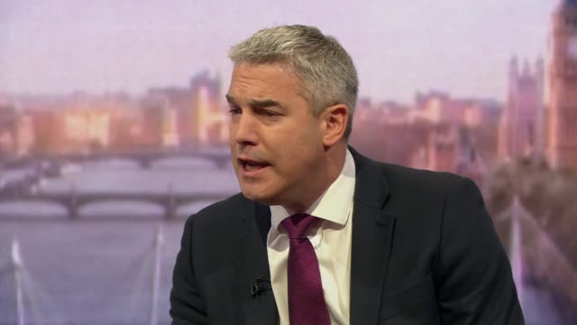 stockvideo's en b-roll-footage met stephen barclay saying the uk is in a crisis because parliament is trying to take over the government in regards to brexit - andrew marr